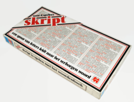 Skript, a trail of letters leads to the hidden word. Jumbo 1981