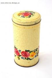 Vintage beschuitbus van Verkade met rozenmotief