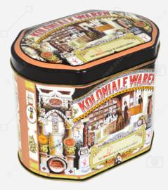 "Ovale Vintage Blechdose für Suppe von Knorr, ""Met Knorr krijg je de smaak te pakken"""
