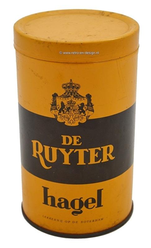 Vintagetin De Ruyter hagel, yellow/brown