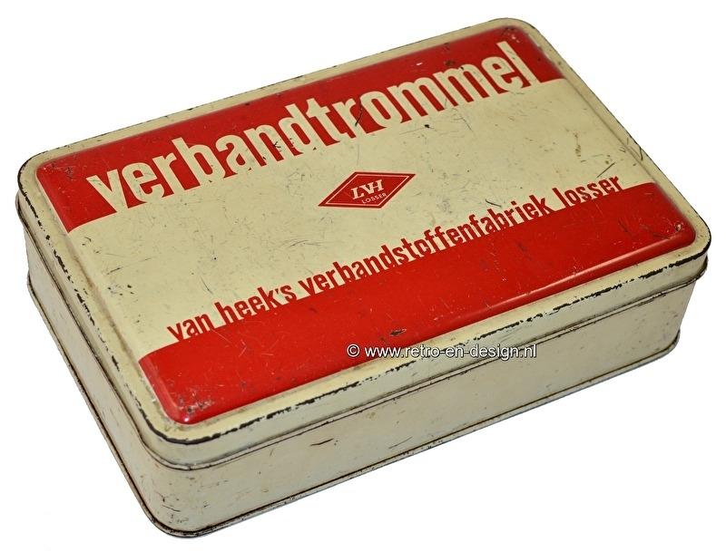 Vintage Verbandskasten '50er jahre. Van Heek's verbandstoffenfabriek Losser