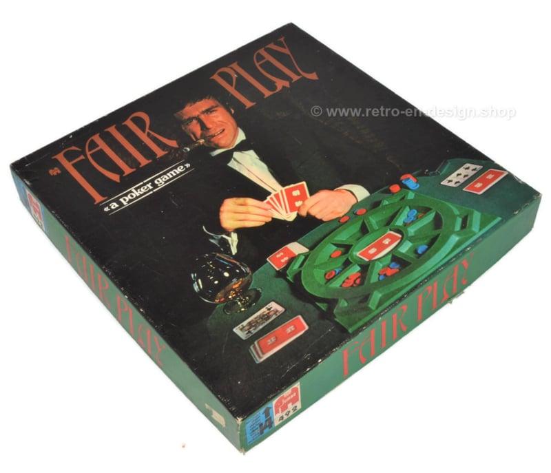 "Jeu vintage ""Fair Play"" un jeu de poker de 1974 de Jumbo"