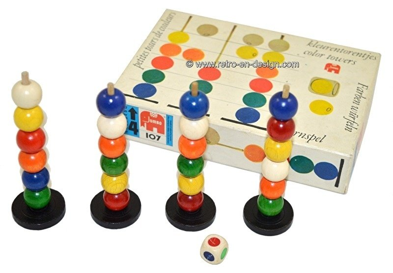 Color towers. Vintage game by Jumbo
