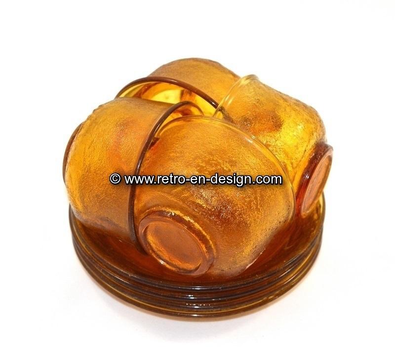 Arcoroc Sierra Amber, bruin glaswerk, kop en schotel