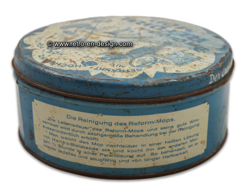 "Vintage lata alemana ""Der original Reform Mop"""