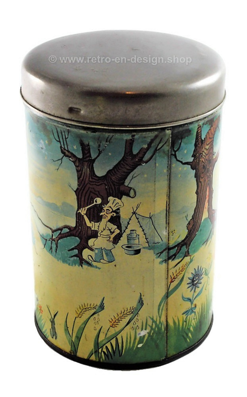 Vintage Brinta tin canister with pouring opening