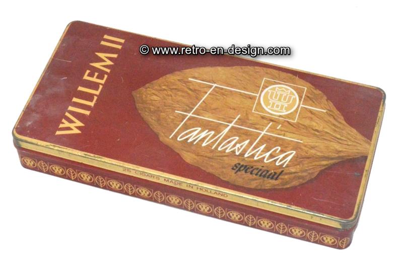 Vintage sigarenblik Willem II