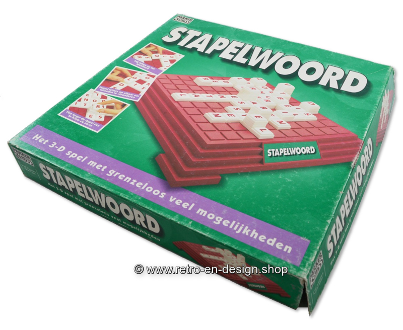 Stapelwoord 3-D spel van Parker