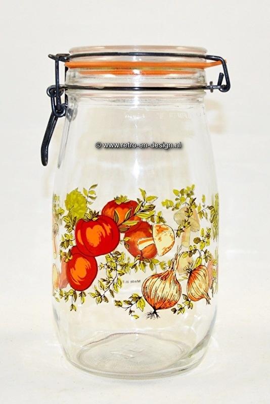 Vintage Arcoroc France glass Jarrs / Canisters