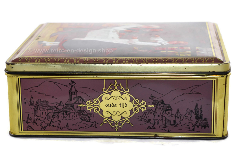 Vintage tin Demaret marked Jules Wagner 1818 - 1882 / Oude tijd - Ancien temps