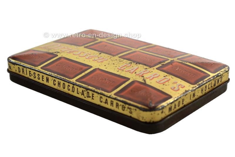 Lata rectangular vintage para chocolate DRIESSEN.