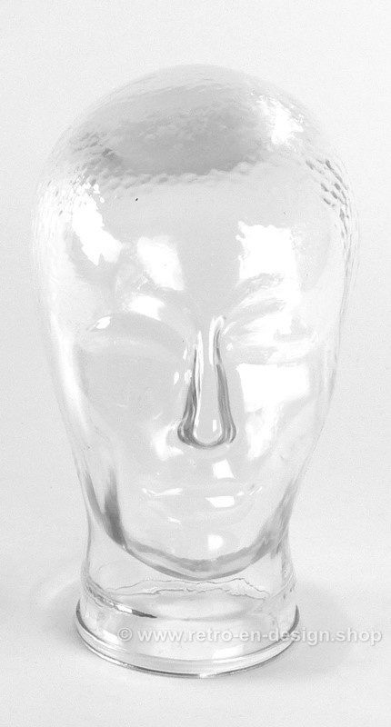 Vintage transparent glass head from the 1970s