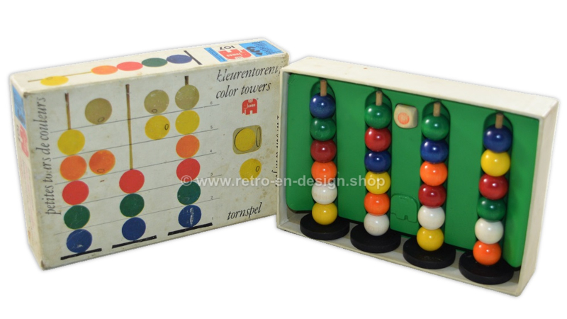 Color towers, a vintage game by Jumbo from 1970