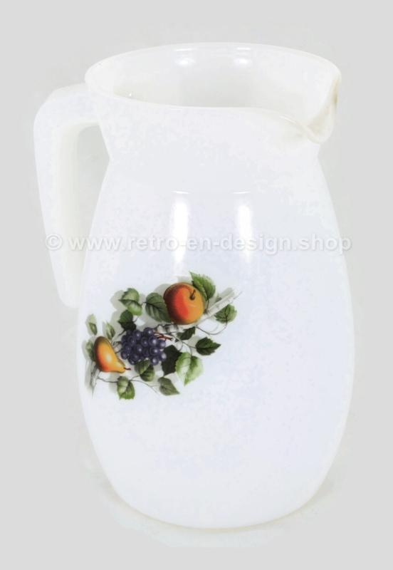 Pichet ou pot à lait Arcopal Fruits de France en verre borosilicaté opale