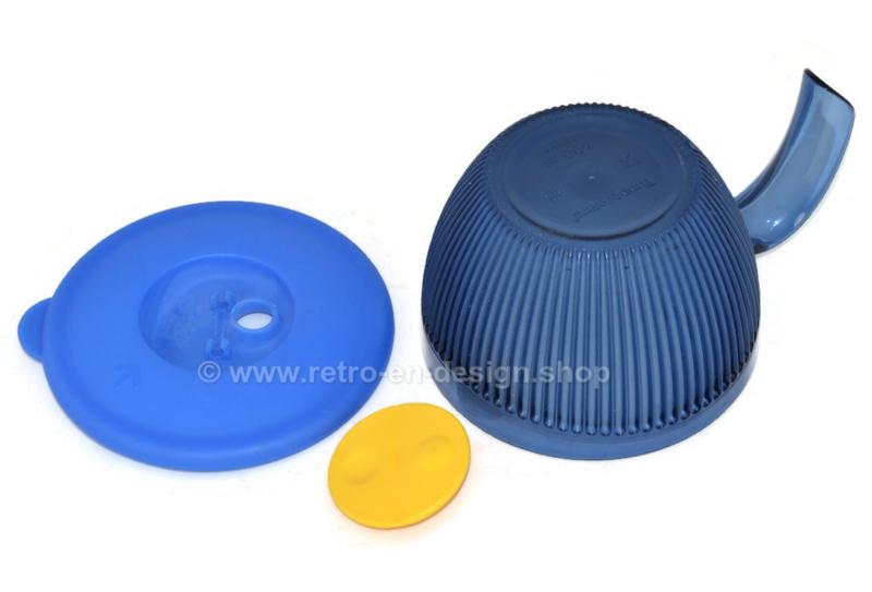 Tupperware Crystal+ blauwe kom met greep en deksel