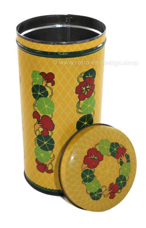 Vintage Verkade biscuit tin with Indian Cress or nasturtium