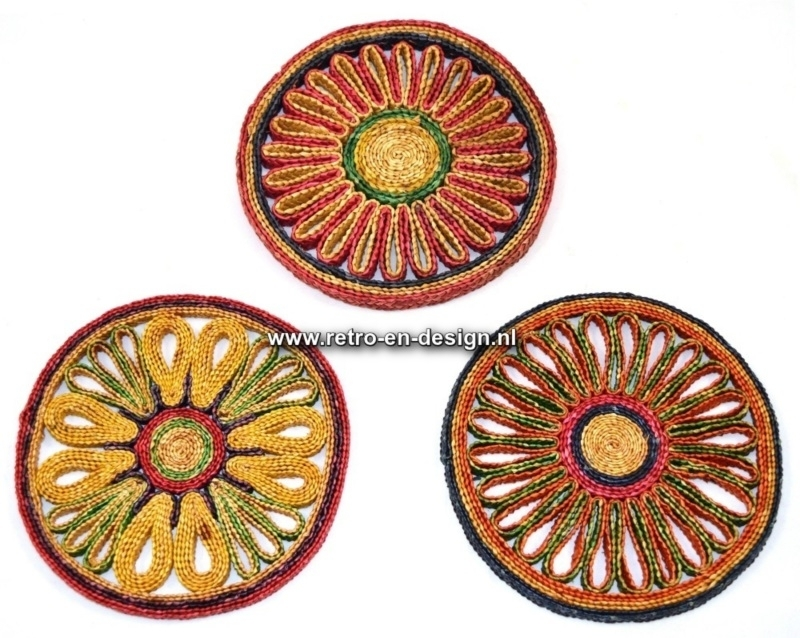 Wicker Coasters from the 70s.
