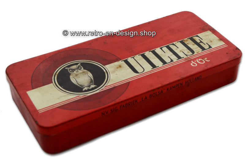 "Vintage cigars tin for cigars of the brand ""Uiltje"" d'Or"