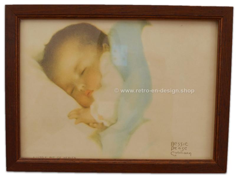 Vintage picture in frame - A little bit of heaven, Bessie Pease Gutmann