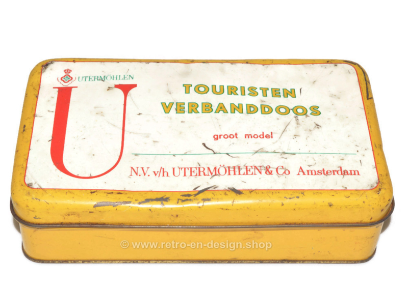 Vintage Touristen verbanddoos N.V. v/h Utermöhlen & Co Amsterdam
