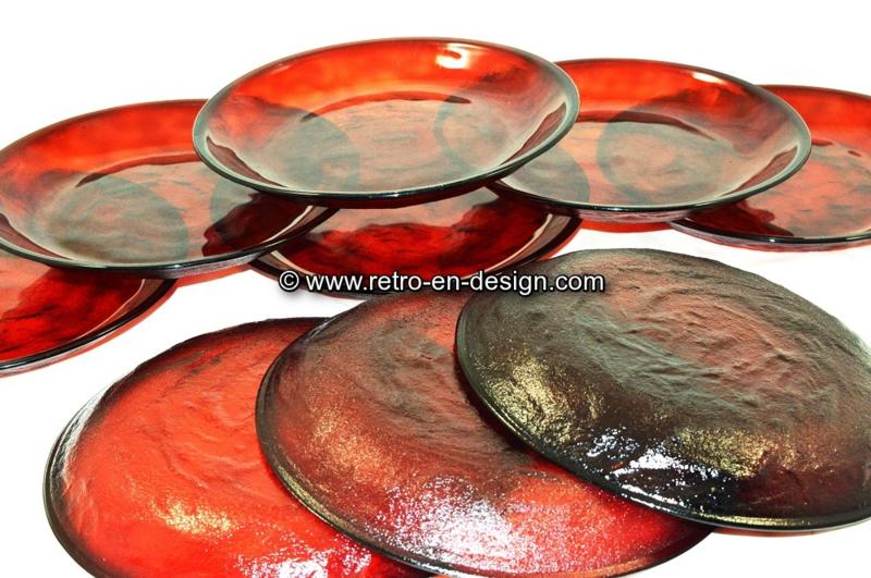 Arcoroc Sierra rouge rubis. Assiette petit-déjeuner Ø 19 cm