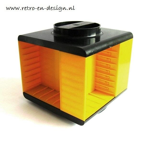 Yellow cassette caroussel 70's