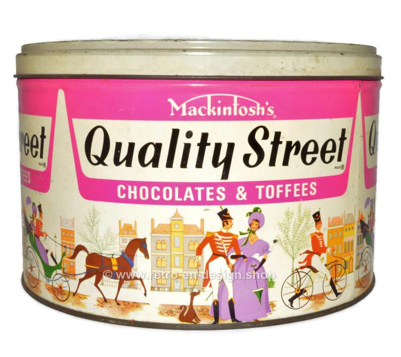 Vintage blikken snoeptrommel jaren 60 - 70 Mackintosh Quality Street