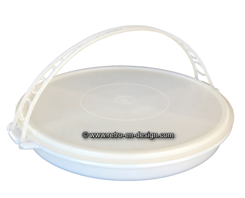 """Tupperware """"Susan"""" party tray with handle and lid"""