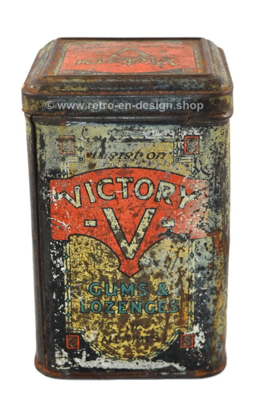 Lata antigua Victory V Gums & Lozenges