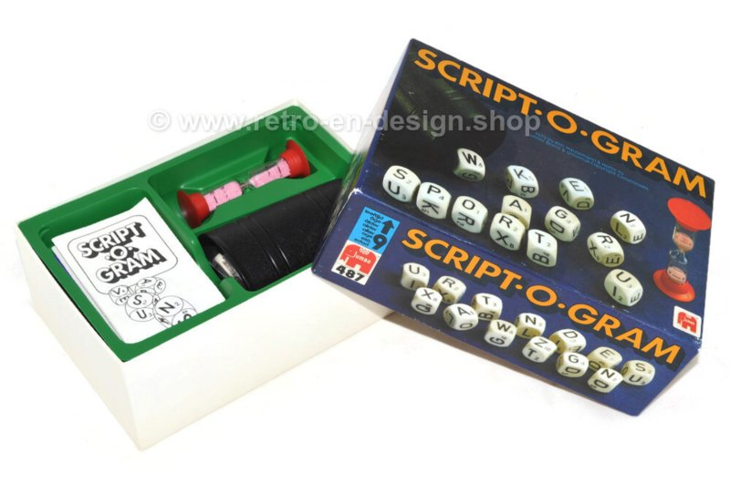 Vintage dice game Script.O.Gram - Jumbo letter game 1979
