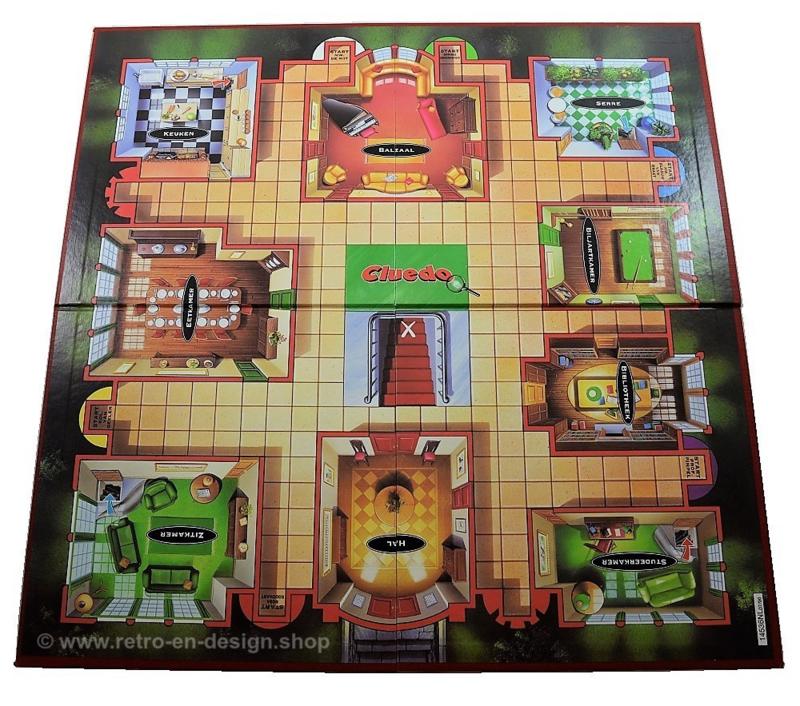 Cluedo, het gevaarlijk spannende detective-spel. Parker 1996