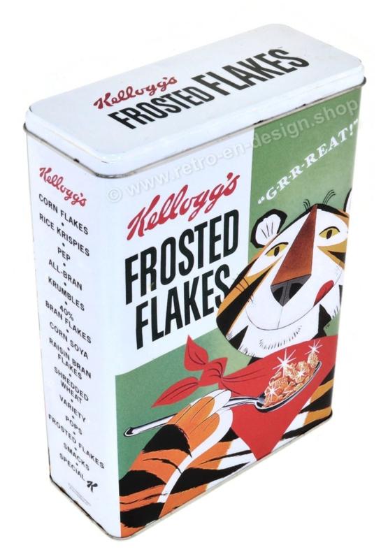 Nostalgische XXL Kellogg's Corn Flakes, Frosties Aufbewahrungsdose mit Tony der Tiger.