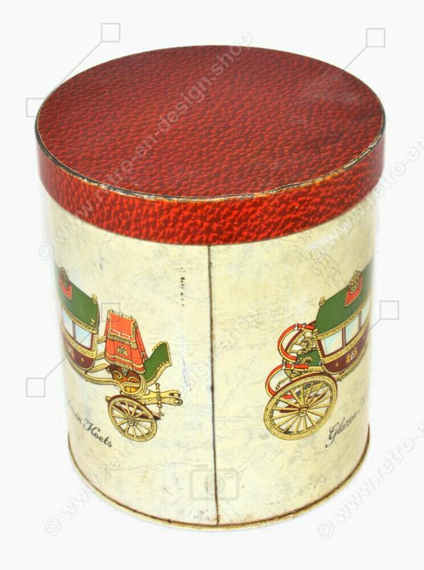 Boîte vintage avec une image du Carrosse de verre hollandais