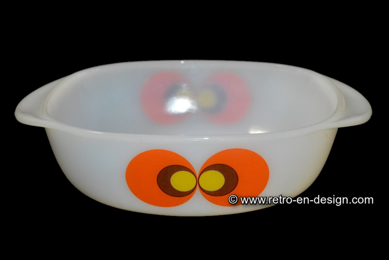 Jena glas Carina, pauwenoog ovenschaal, L 25 cm.