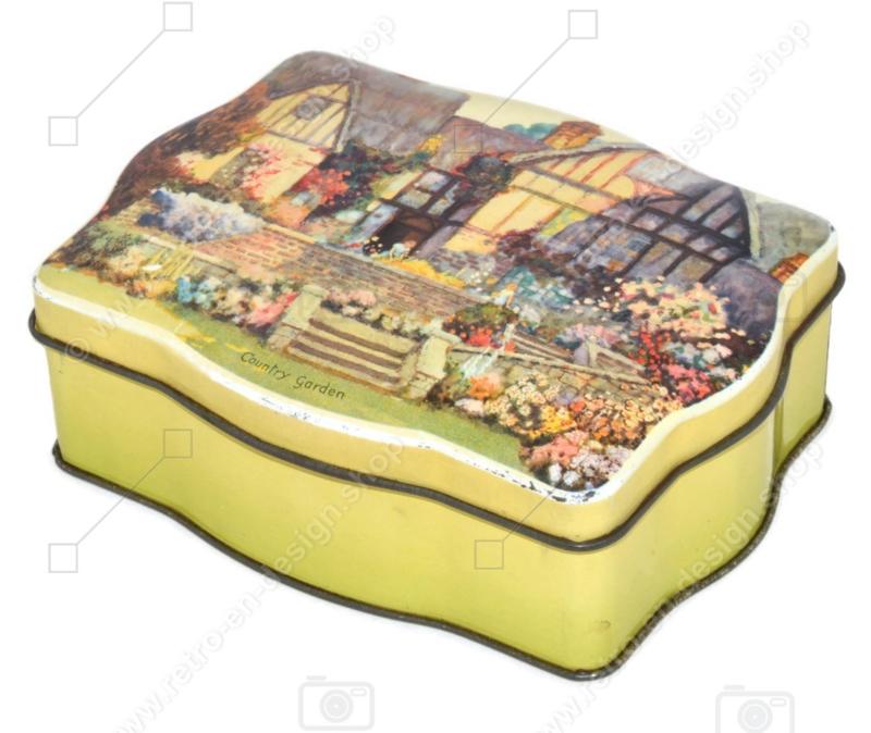 "Boîte vintage ""Country Garden"" The metal box company ltd (branche b.w. & m) Mansfield"