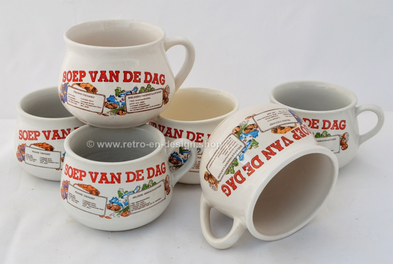 "Vintage ""Soep van de dag"" soepkommen"