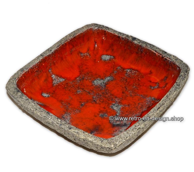 Cendrier Vintage Lava, années 60-70 en argile chamotte