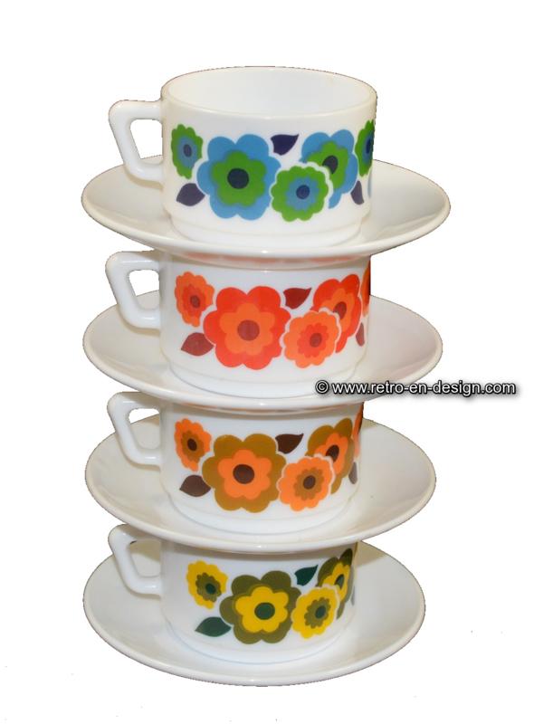 Arcopal France Lotus Kaffeetasse und Untertassen
