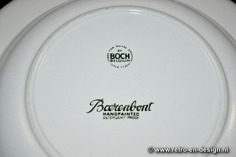 Soup plate 'Boerenbont' by BOCH Belgium