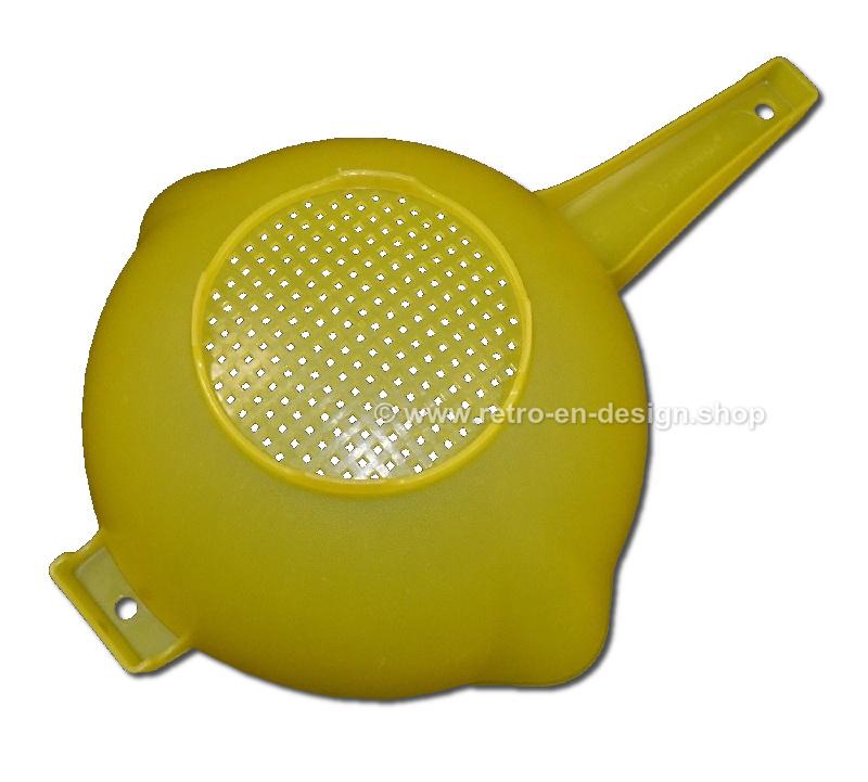 Tupperware Handzeef of Handvergiet met steel, geel 2 Liter