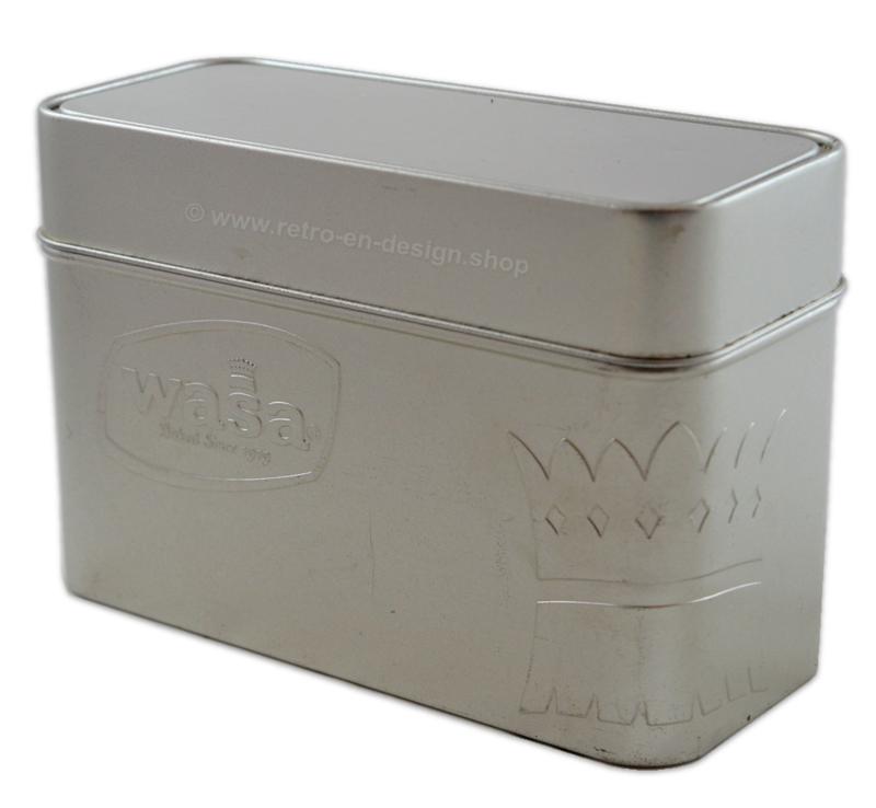 WASA baked since 1919. Bewaarblik in zilverkleurige uitvoering