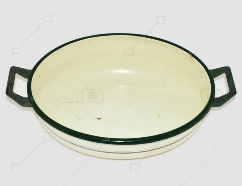 Lavabo ovalado ovalado ovalado Brocante con asas de baquelita fabricado por BK