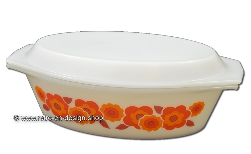 Vintage Arcopal Francce LOTUS ovale ovenschaal