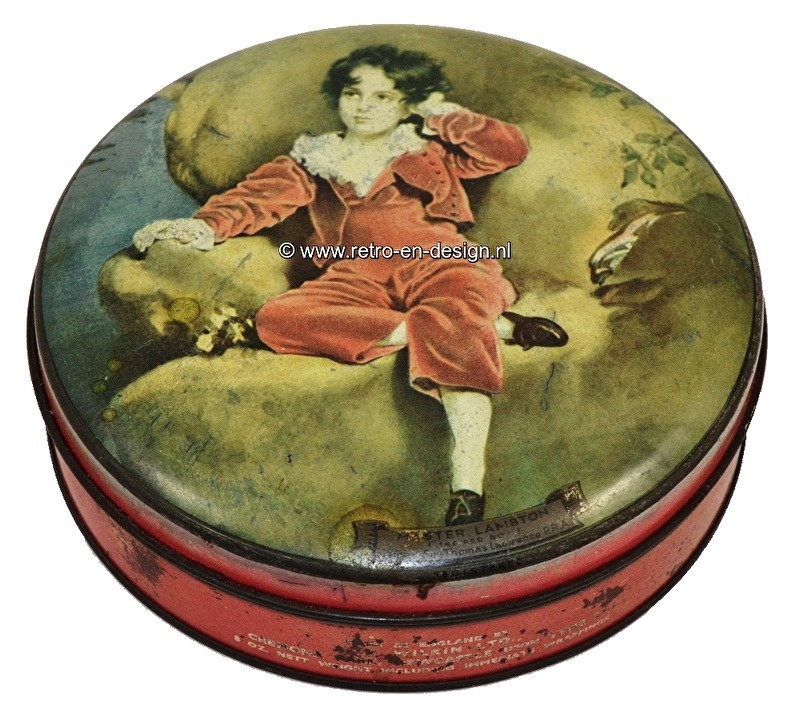 Wilkin's Red Boy Toffee. Vintage blechdose, Master Lambton