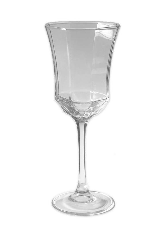 Glazen Arcoroc France, Octime Clear Wijnglas op voet.