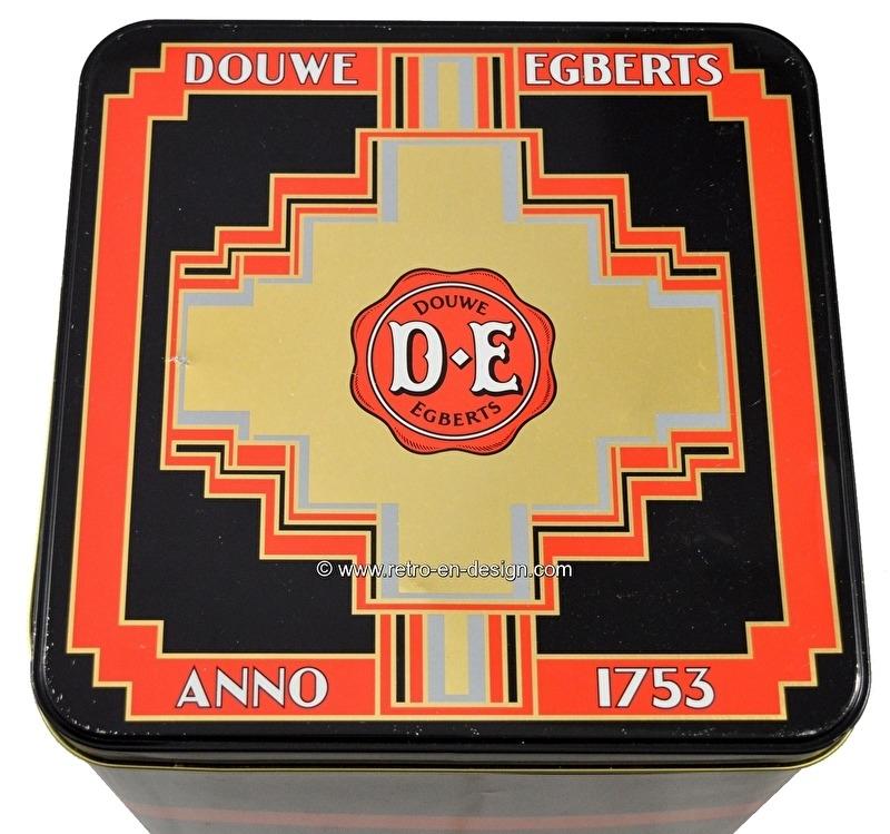 Douwe Egberts Anno 1753. Large vintage storage tin for coffee