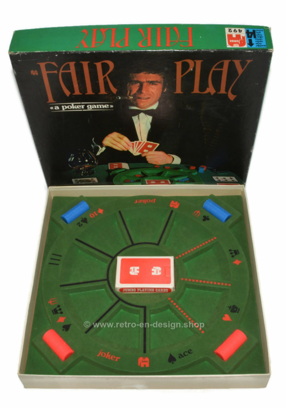 """Vintage game """"Fair Play"""" a 1974 poker game by Jumbo"""