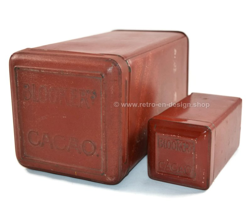 """Set of square tins for """"daalders"""" cocoa by Blooker"""