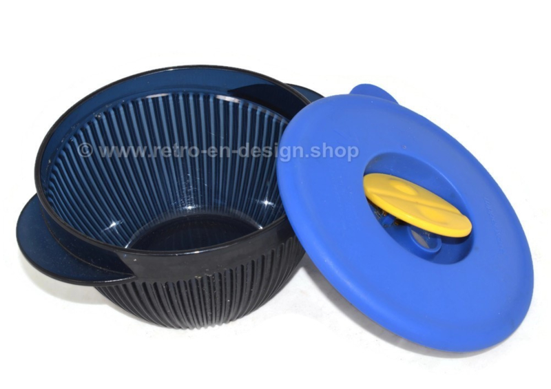 Tupperware Crystal + blue bowl with lid
