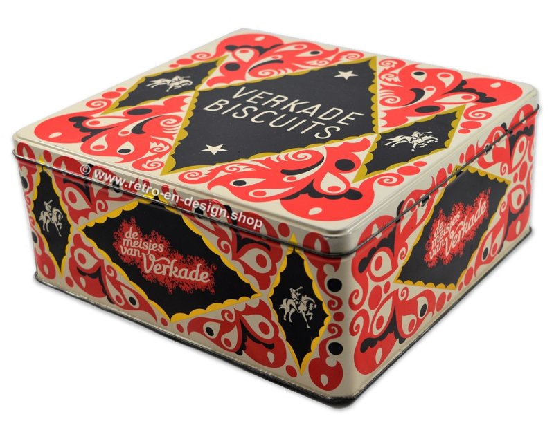 Rectangular tin for mixed biscuits by Verkade